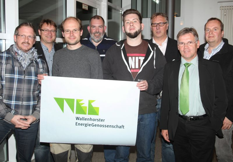 Gründungsmitglieder der Wallenhorster EnergieGenossenschaft,  17. Dezember 2012;
